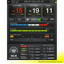 Waves WLM PLUS LOUDNESS METER Audio Software Plug-in NEW