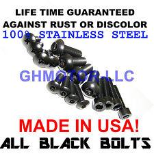 97 98 99 00 01 02 03 CBR1100XX BLACKBIRD COMPLETE BLACK FAIRING BOLTS SCREWS KIT