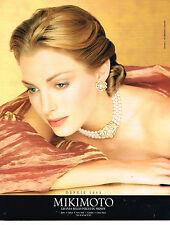 PUBLICITE ADVERTISING 024   1998   MIKIMOTO   les plus belles perles du monde