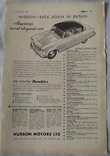 1955 Hudson Rambler ORIGINALE annuncio