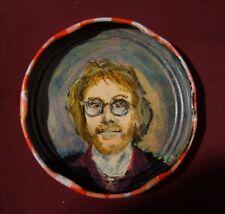 WARREN ZEVON, Jam Jar Lid Portrait, Outsider Folk Art by PETER ORR
