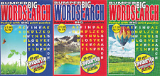 WORDSEARCH BOOK - LARGE PRINT -  3 BOOK SET - 282 PUZZLES - NEW - SET 224