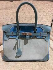 HERMES BIRKIN 30 BAG GHILLIES GRIZZLY CLEMENCE VEAU EVERCOLOR TURQUOISE  - CIEL