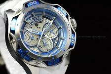 Invicta Men's 52mm Reserve VENOM Quartz Chrono Blue White Strap SS Watch