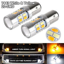 2X High Power 5730 Chip 1157 Dual Color Switchback LED Tail Brake Light Bulbs