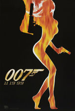 THE WORLD IS NOT ENOUGH ORIGINAL MOVIE POSTER ADV DS JAMES BOND 007 MINT