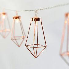 10 LED Rose Gold Diamant Wassertropfen Lichterketten Warmweiß Party Dekoration