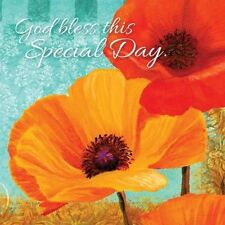 God Bless This Special Day, Poppies, Napkins, Pack of 20