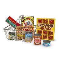 Melissa and Doug 15171 - Shopping Basket with Play Food - NEW!!