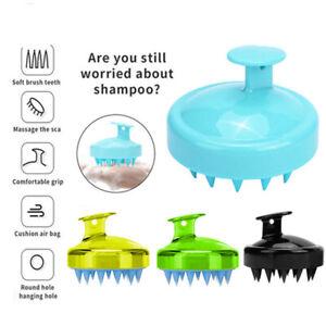 Silicone Shampoo Scalp Shower Washing Hair Massager Head Massage Brush Comb