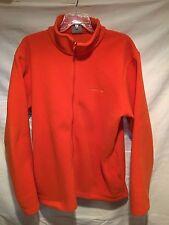 Merrell Men's Orange Fleece Jacket Full Front Zip Size M