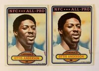 OTTIS ANDERSON 1980 Topps LOT of 2 Rookie RC Card #170 -HOF -St. Louis Cardinals