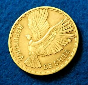 1965 Chile 10 Centesimos - Great Coin - See Pictures
