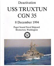 35 CGN Truxtun Booklets Deact,Decom,Wel  20 Patches FREE Shipping