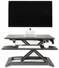 Sit-Stand Hydraulic Desktop Workstation with Keyboard Shelf Ergonomic Office