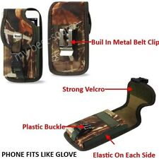 (A3) Heavy Duty Leather Case Cover Belt-Clip FOR Samsung Galaxy S5 - Camo Oak