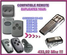 Marantec D302, D304, D313, D321, D323 Compatible remote control, 433,92MHz CLONE
