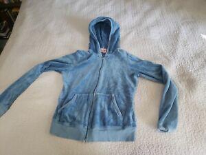 Vtg Juicy Couture Angel Zip Up Hoodie , Blue Sz L