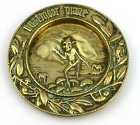 Vintage Brass Dartmoor Pixie Pin Trinket Dish Tray Spare Change Keys Footed
