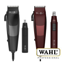 WAHL GROOMEASE HAIR CLIPPER & NOSE TRIMMER GIFT SET 18 PIECE SET COMBS 2 COLOURS