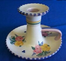 POOLE POTTERY 1930's TRADITIONAL BF PATTERN CHAMBER CANDLE STICK MARJORIE CRYER