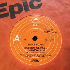 """MEAT LOAF - -  BAT OUT OF HELL - -  Rare 1977 Australian Epic 7"""""""