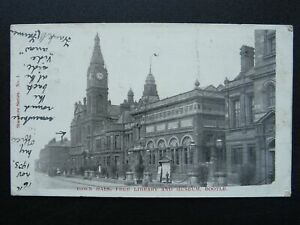 Liverpool BOOTLE Town Hall, Free Library & Museum c1903 UB Postcard by Stanmore