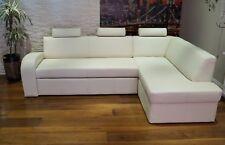 Echtleder Ecksofa 245x185cm Echt Leder Sofa Couch mit Schlaffunktion