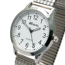 Ravel Men's Super-Clear Quartz Watch with Expanding Bracelet sil #29 R0230.01.1
