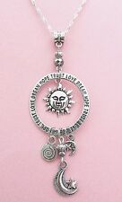 Celestial Dangle Sun Face Charm Necklace  FREE SHIPPING!