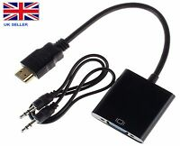 PC HDMI to VGA SVGA RGB Video +Audio Cable Converter Adapter For XBOX Apple TV