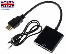 pc hdmi a VGA SVGA RGB vídeo + CABLE DE AUDIO adaptador convertidor Xbox APPLE