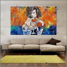 Cocktails Modern Urban Pop Art Canvas Painting Textured 160cm x 100cm Franko