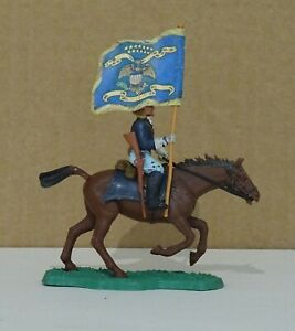 VINTAGE 1960'S BRITAINS EYES RIGHT SWOPPET ACW UNION  MOUNTED TROOPER WITH STAND
