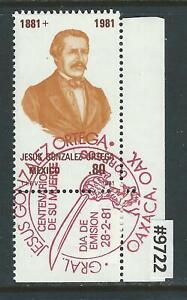 #9722 MEXICO Sc#1227 MNH Jesus Gonzalez Ortega, Birth Cent. 1981