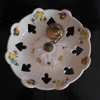 Lustre vasque céramique faïence fait main Design Art Nouveau Déco France N3133