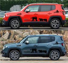 Graphics Vinyl Black Bear Car Sticker Bonnet Decal For Jeep Renegade Compass