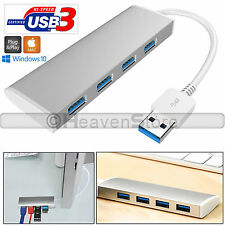 Aluminum 4 Port USB 3.0 Hub 5gbps High Super Speed Adapter With Cable for PC Mac