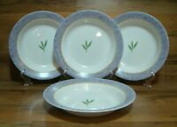"SET OF 4 - CORNING WARE CORELLE DINNERWARE - 9"" RIMMED SOUP BOWLS"