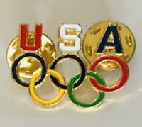 USA Olympic Games Rings American Team Pin Badge Rare Vintage (K12)