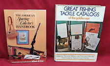 2 Book Lot-Great Fishing Tackle Cat. 1st ed./The Am. Sporting Collector's Hnbk.