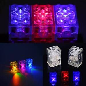 💙2 x Lunar LED LIGHT BLOCK compatible with lego 2x3 MULTI Free axle piece💚💙❤️