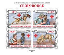 Red Cross Rescue Dogs Burundi m/s Sc. 1341 MNH #BUR13201a
