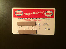 Humble Oil & Refining Company 1967 Vintage Collectors Credit Card