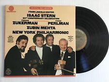Isaac Stern Zuckerman Perlman 60th Anniversary 1981 MINT gatefold LP Audiophile