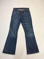 Para Mujeres Jeans de Levi 529 'Bootcut' - W28 L30-lavado Azul Marino-Excelente Estado