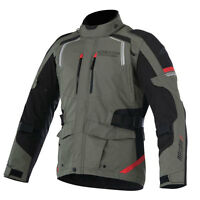 Alpinestars Andes Drystar V2 Military Green / Red Motorcycle Jacket   All Sizes