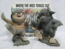 """Where The Wild Things Are MOISHE & BERNARD 7"""" Character Figurines & Book"""