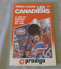 Original NHL Montreal Canadiens 1986-87 Official Provigo Hockey Media Guide