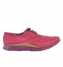 DOLCE & GABBANA Schuhe Sneakers SCILLA aus Bast Bordeaux Rot Shoes Red 05205